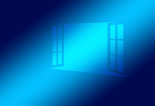 Window, Open, Blue, Operating System