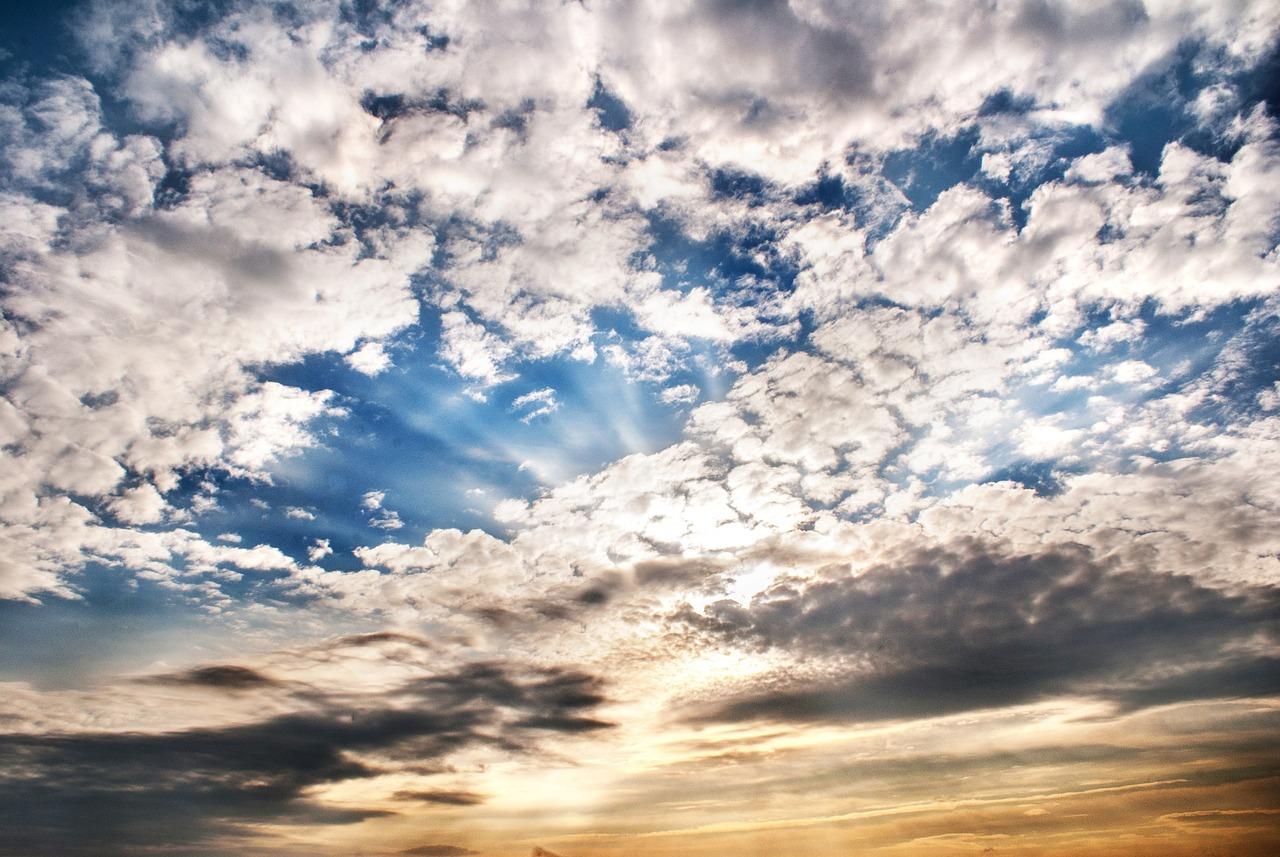 Картинка небо и облака, открытки днем рожденья
