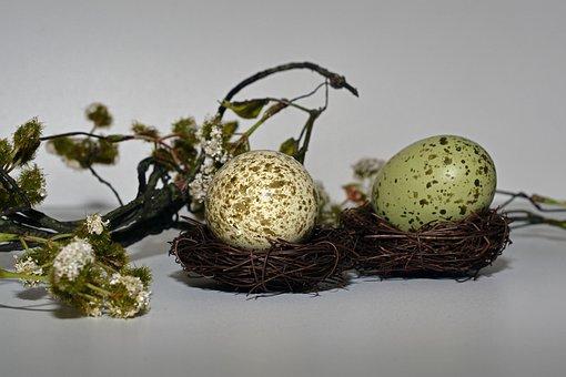 Easter Eggs, Easter Nest, Easter, Egg