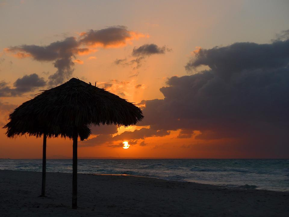 Cuba Beach Caribbean Atlantic Sea Ocean Sunset