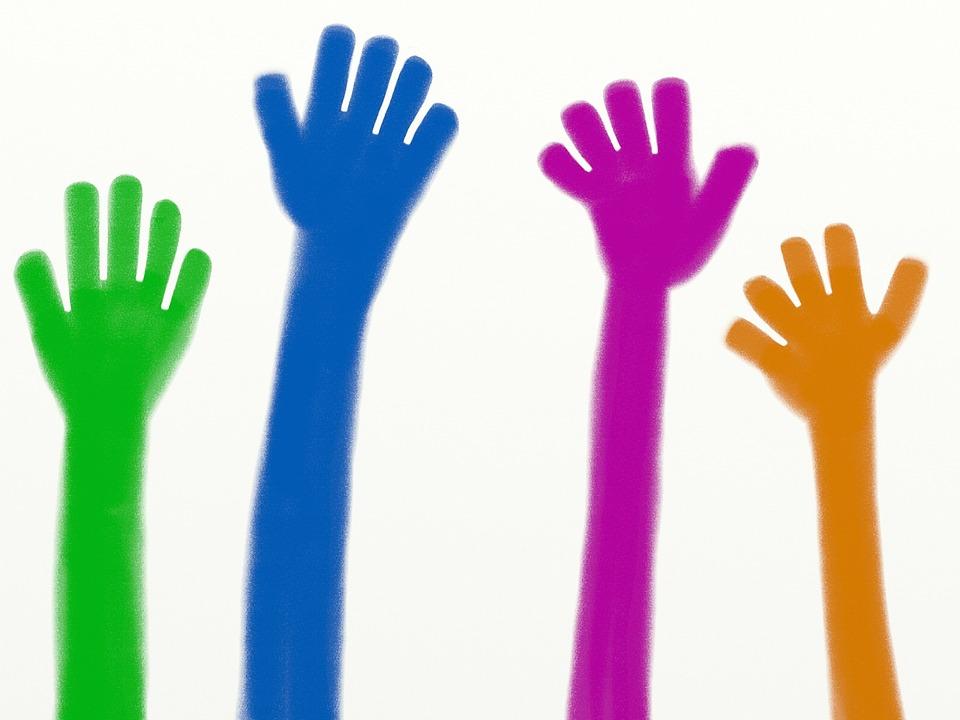 Ilustraci n gratis manos manos levantadas imagen gratis en pixabay 1234037 - Service hoog ...