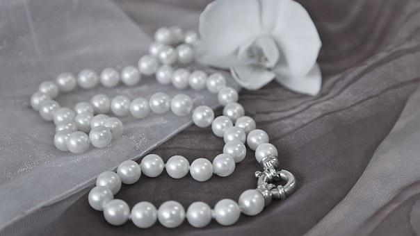 Beads Chain Silk Jewellery Sensual Pearl N