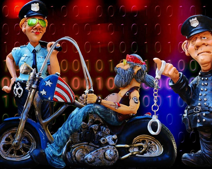 Policía, Control, Tráfico, Carretera, Comparación