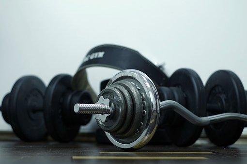 スポーツ, 運動, ジム, 筋肉, 鉄, 金属, ビチューメン, ゴム, 健康