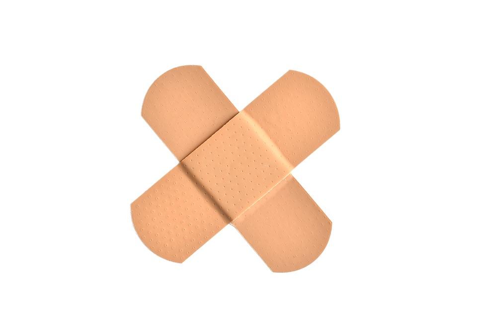 包帯, 最初援助, 医療, 傷つける, 痛み, 治療, 医学, 傷害, 傷, ヘルスケア, 事故, 問題