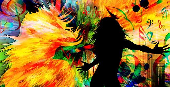 Dance Disco Movement Music Color Backgroun