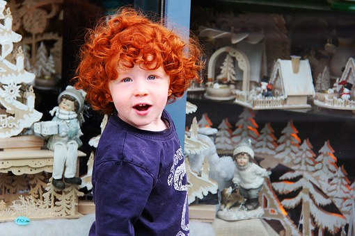 Cute, Adorable, Red, Hair, Kid, Children