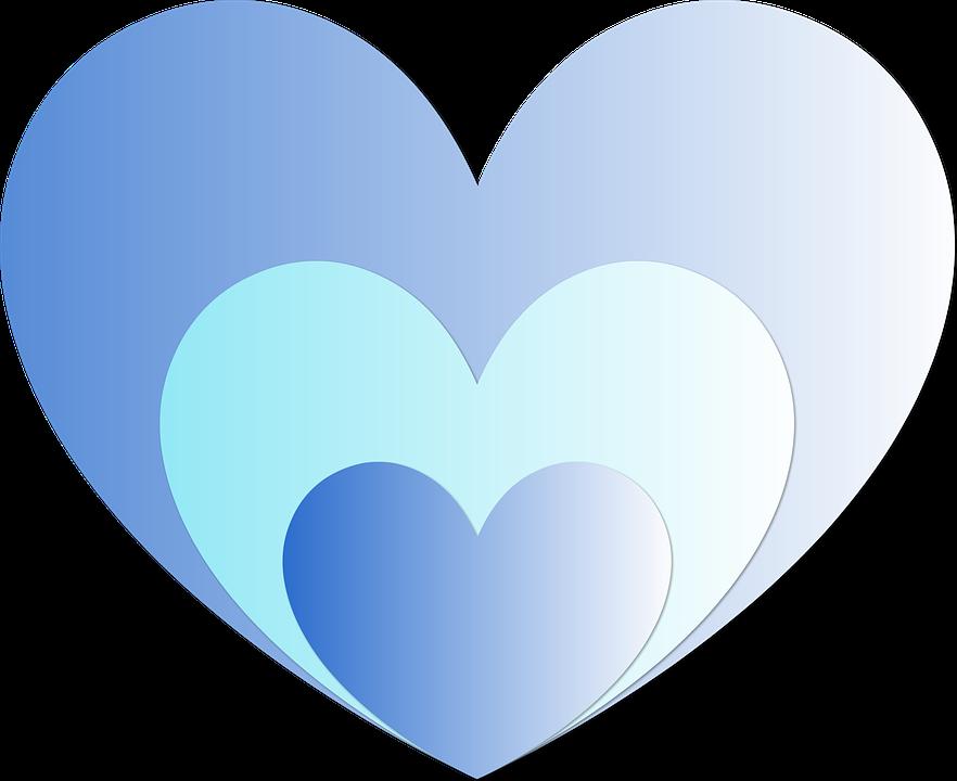 Hjerte, Hjerter, Blå, Kjærlighet, Hengivenhet