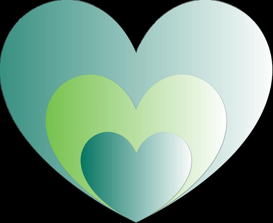 картинки сердечки зеленые своём