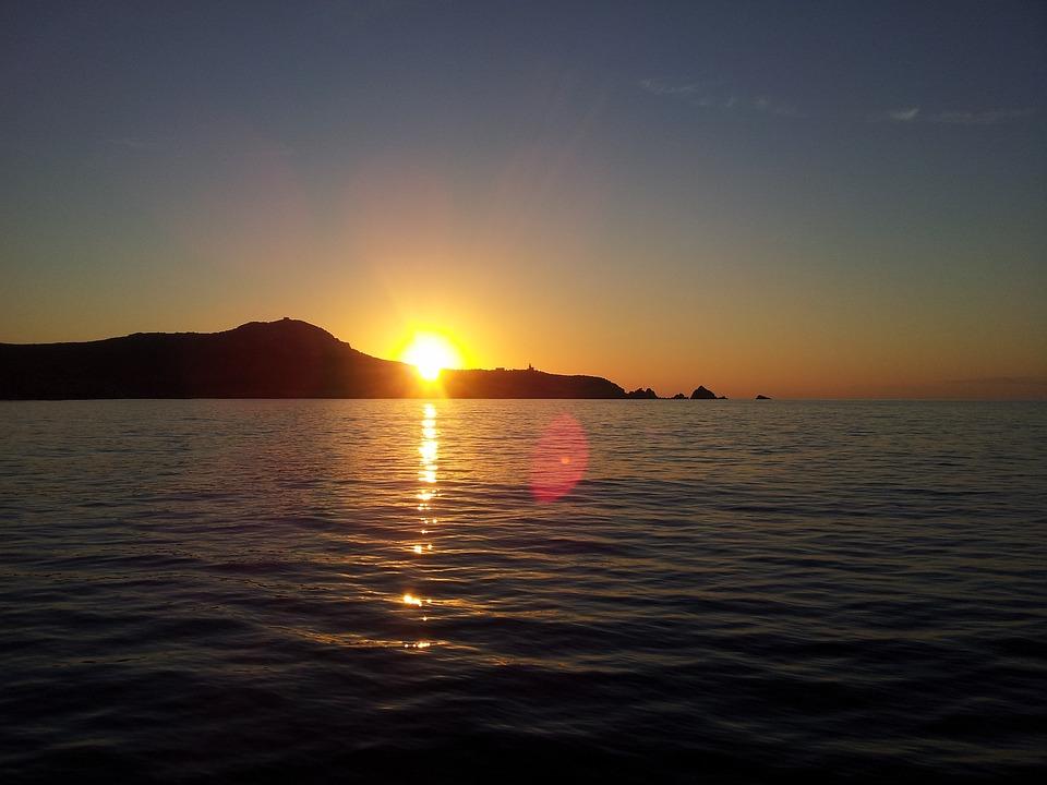 Картинки анимационные природа море закат рассвет