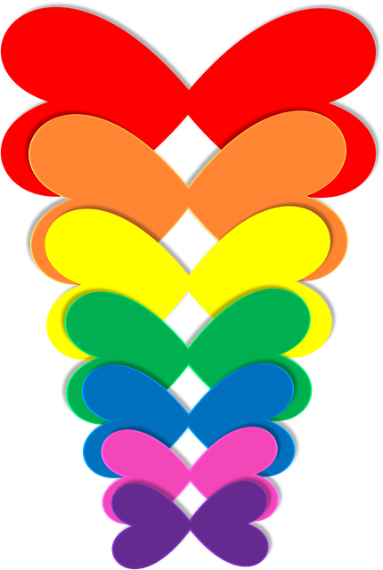 Free Illustration Rainbow Hearts Butterflies Free