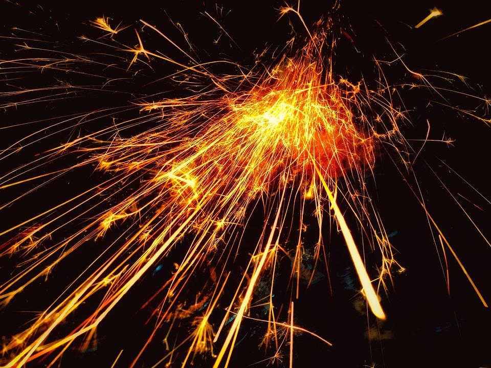 sparks dazzle brilliant free photo on pixabay