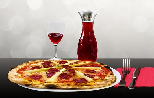 Eat, Pizza, Drink, Restaurant, Wine