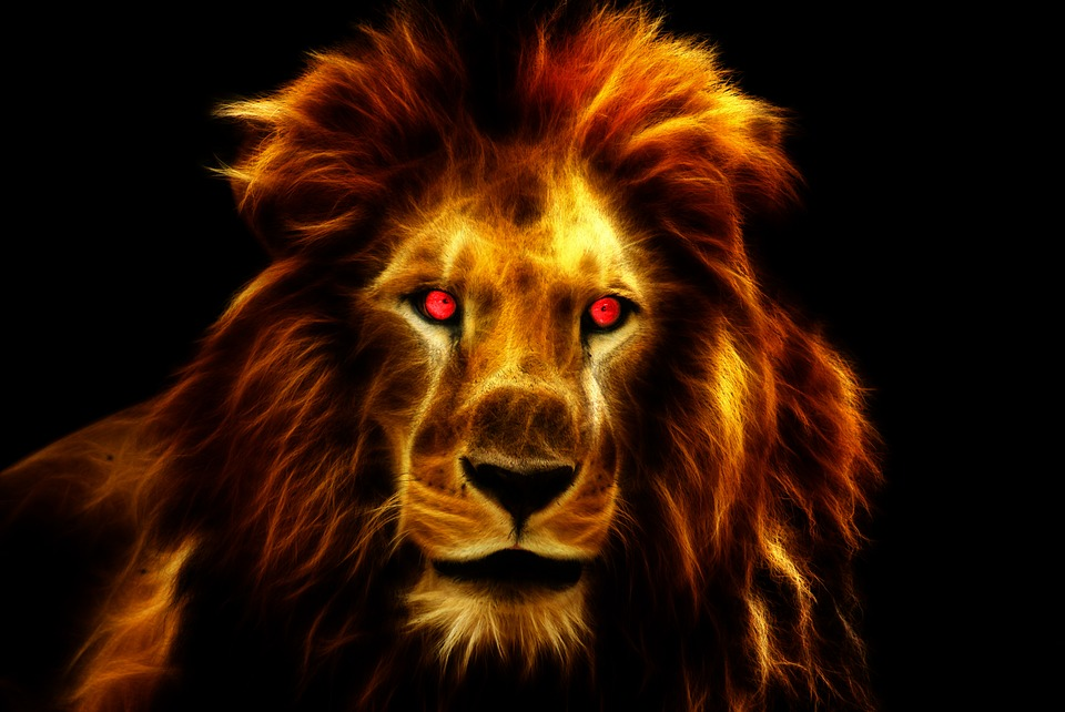 Nature Lion Big Cats Fury Angry Portrait Monochrome: Illustration Gratuite: Lion, King, Afrique, Des Animaux
