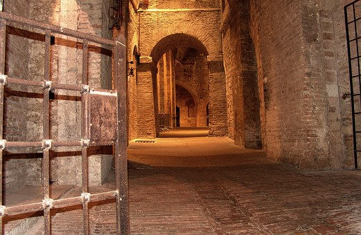 Italy, Perugia, Fortress, Vault, Dungeon