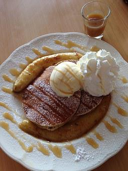 Pancake, Banana, Pancake Banana Caramel