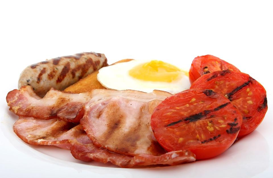 Bacon, Pane, Prima Colazione, Alla Griglia, Brown