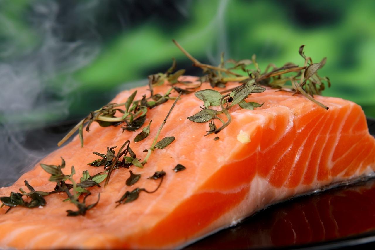 Salmon Herbs Food