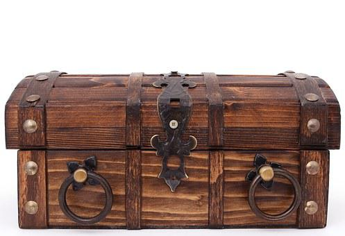 Treasure, Bank, Box, Brown, Case, Chest