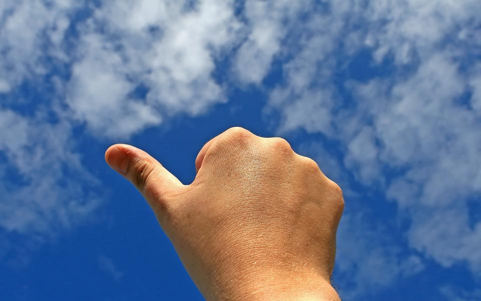達成, 同意します, 承認, 美しい, 体, ビジネス, 実業家, キャリア, 雲, コンセプト, 概念の