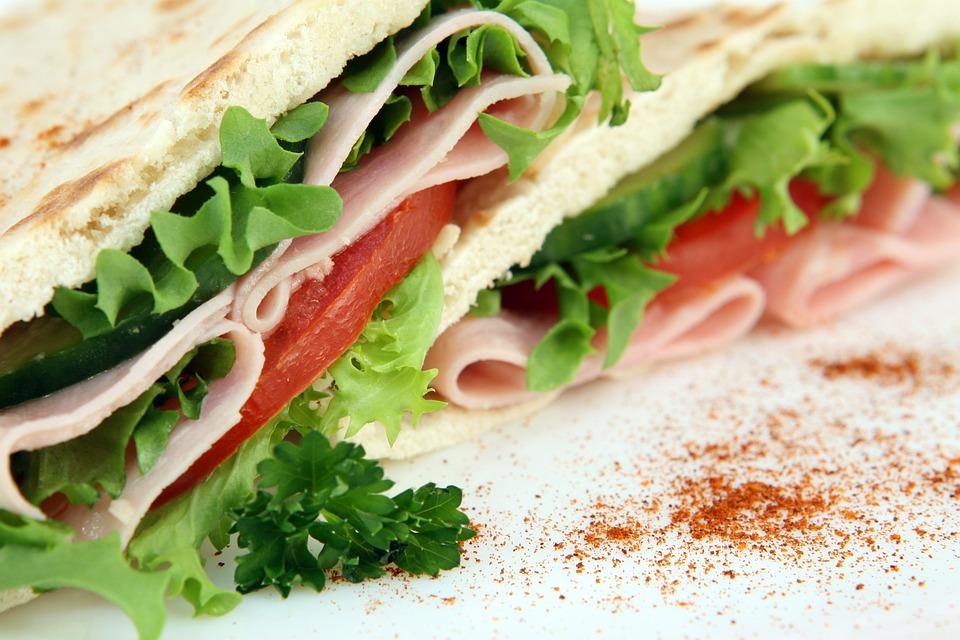 Бутерброд, Закуска, Питание, Блюдо, Хлеб, Мяса, Овощи