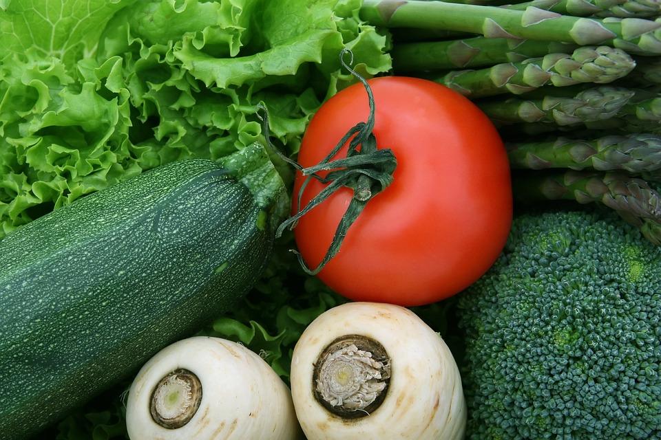 Asparagi, Broccolo, Ciliegia, Cibo, Fresco, Verde, Sano