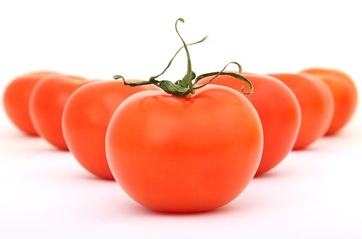 Tomatoes, Fresh, Organic, Red, Vegetable