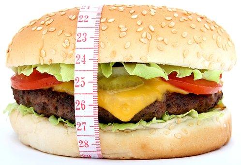 牛肉, パン, ハンバーガー, ファーストフード, 脂肪酸, 食品, レタス