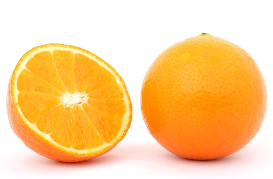 Oranges, raw, all commercial varieties