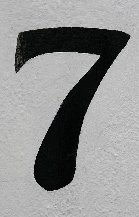 Nombre, 7, Résumé, Adresse, Sept, Calligraphie