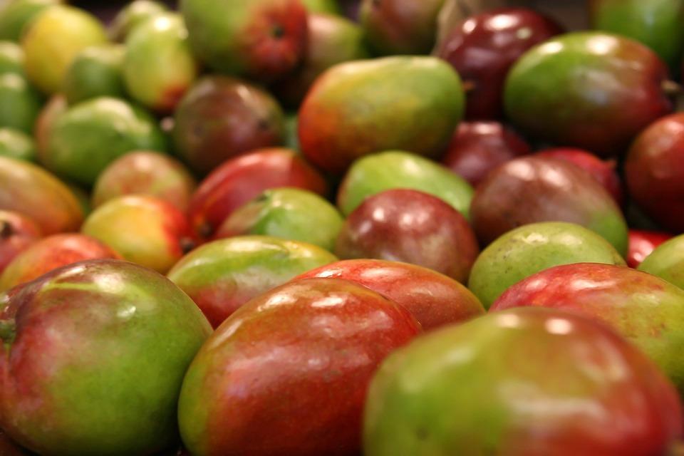 Mango, Frutas, Colorido, Los Alimentos, Fresco