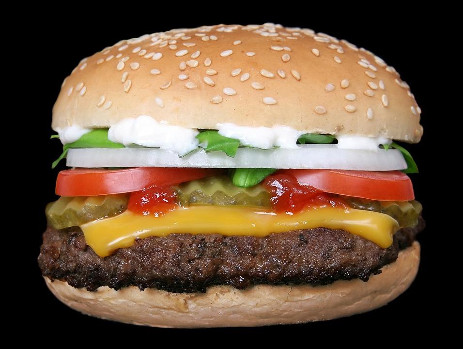 バーベキュー, 牛肉, パン, ハンバーガー, 炭焼き, チーズ, チーズバーガー, 食品, 新鮮な, グリル