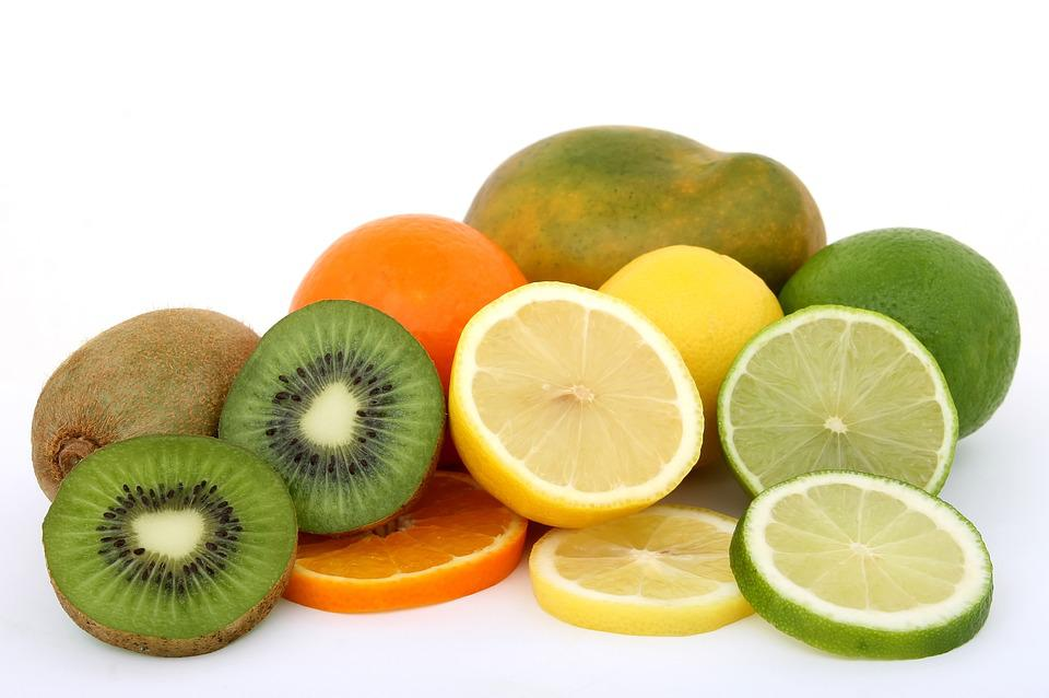 朝食, 料理, 食品, 新鮮な, フルーツ, 健康, 成分, キウイ, レモン, ライム, マンゴー, 自然