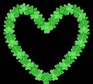 Liebe, 3D Herz, Kleeblatt, Klee