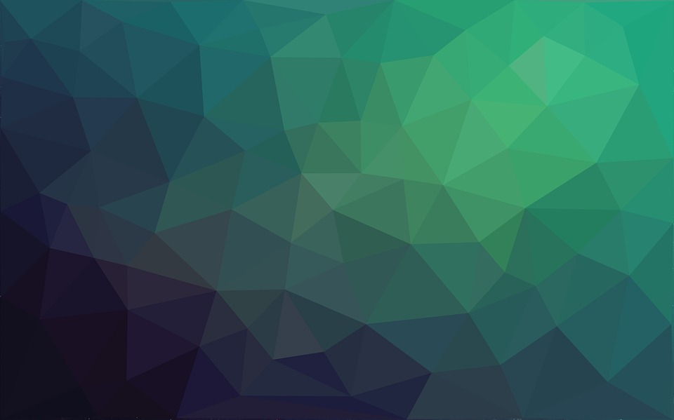 Low Poly Background Triangle Green Texture