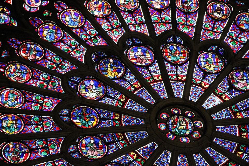 France, Paris, Window, Church, Notre Dame