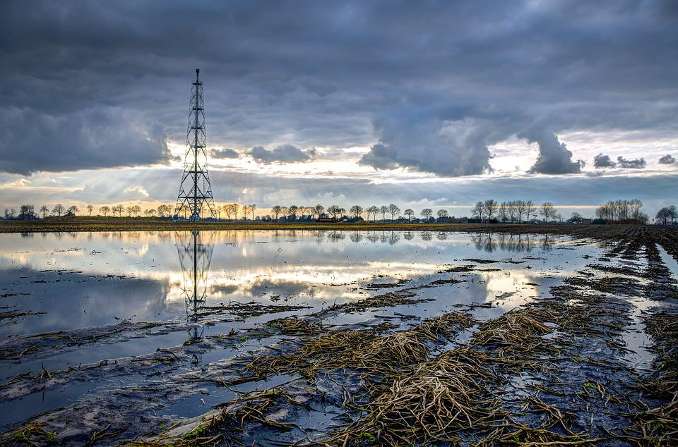 Natural, Gas, Field, Flaring, Hdr, Sky, Clouds