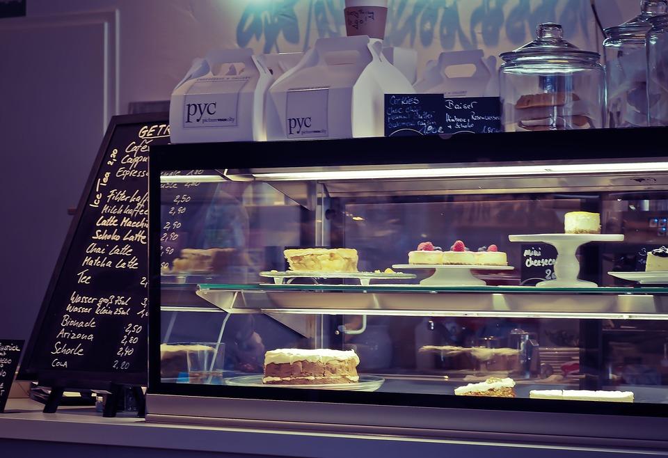 Kuchen, Kuchentheke, Bistro, Cafe, Gastronomie, Lokal