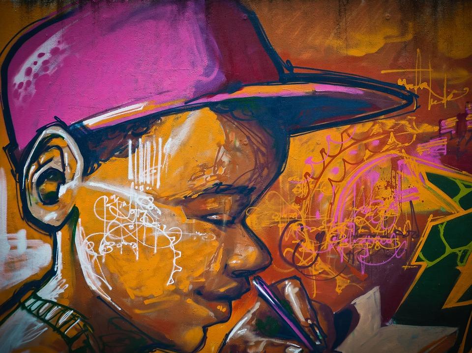 pintura de la pared graffiti el arte