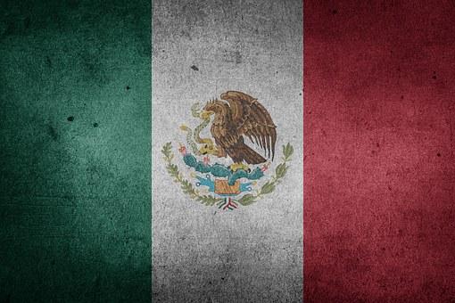 Mexiko, Flagge, Grunge, Nordamerika