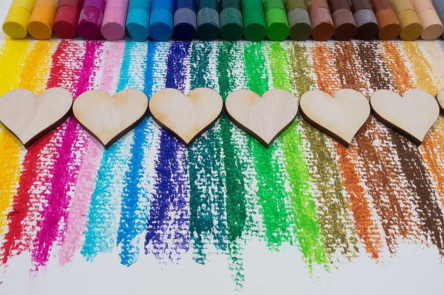 free photo color oil pastels colorful heart free