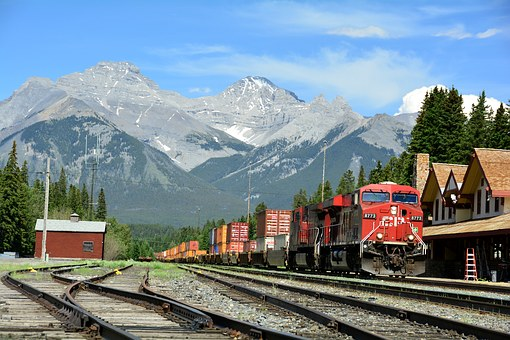 Banff Train Station Depot Train Engine Rai