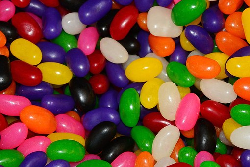Jelly Beans Candy Sugar Sweets Green Purpl