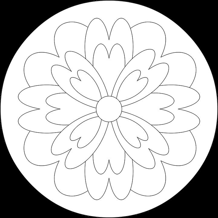 Mandala Cicek Boyama Pixabay De Ucretsiz Resim