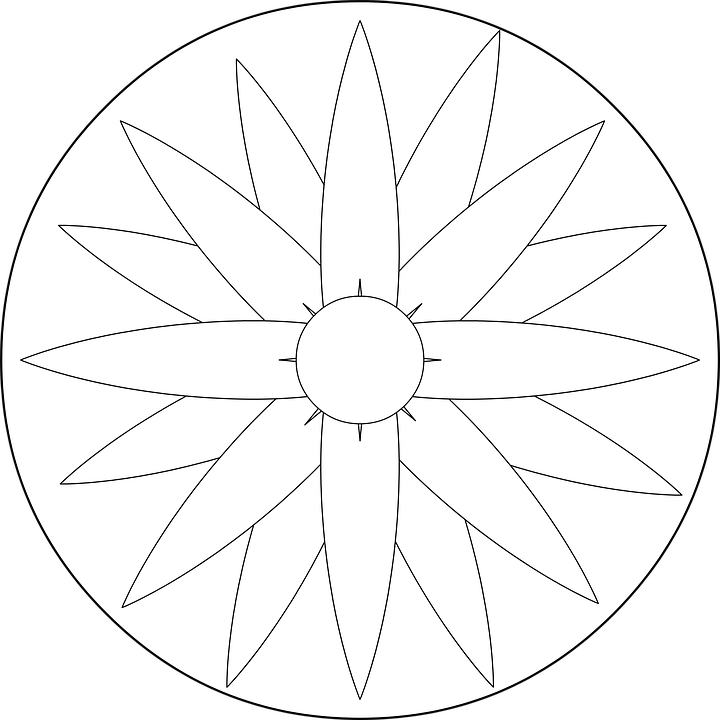 Mandala Fleur Coloriage Image Gratuite Sur Pixabay