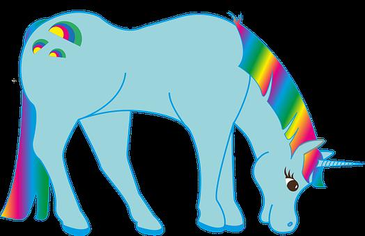 Rainbow, Unicorn, Fairy Tales, Fantasy