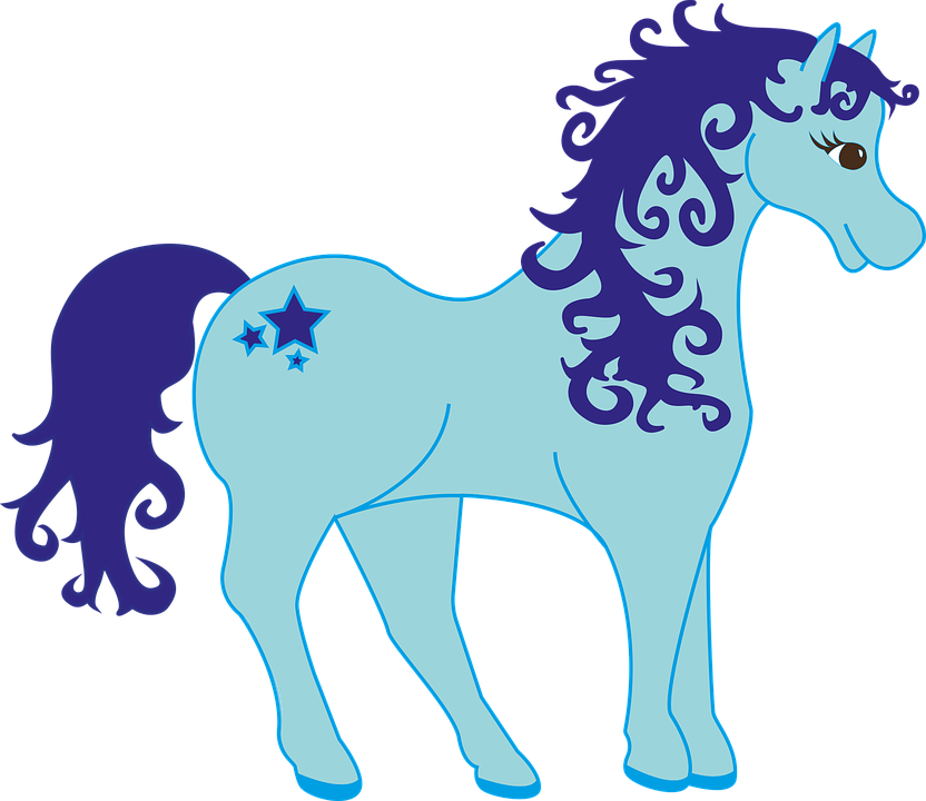 Pony Blue Mythical Creatures · Free vector graphic on Pixabay