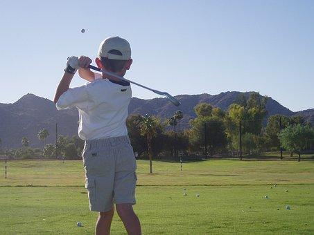 Golf, Junior, Boy, Golf, Golf, Golf