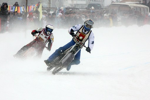 Motorcycles, Sports, Extreme, Winter