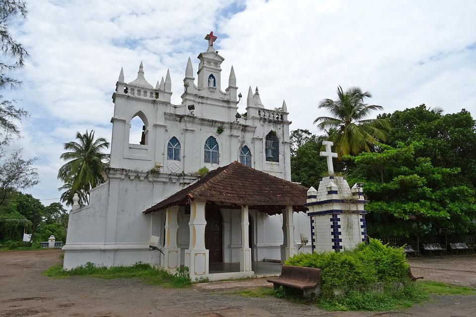 Church, Architecture, Religion, Christianity, Goa